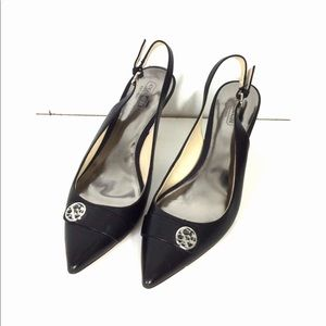 Coach black leather Zuane heels 8 B